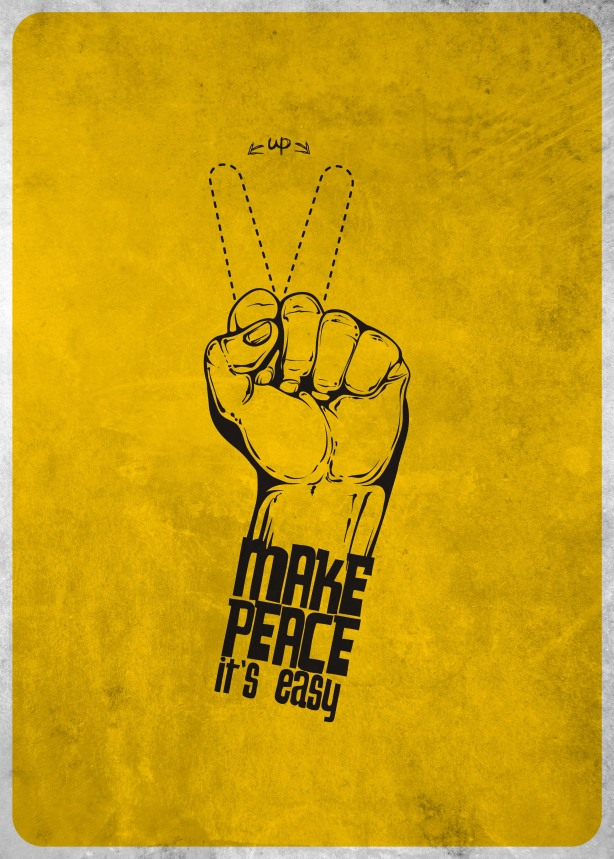 Make peace it's easy!!